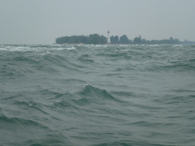 High Winds and Waves at Long Point Port Dover, Ontario Canada