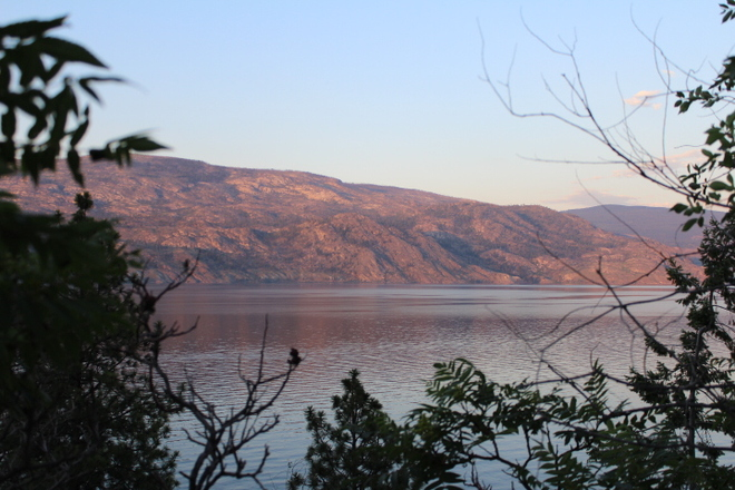 Sunset in Penticton Penticton, British Columbia Canada