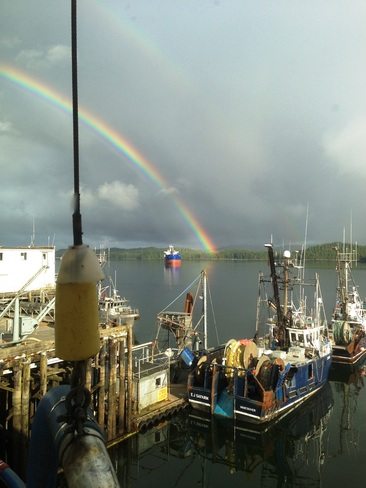 Rainbow on the water Prince Rupert, British Columbia Canada