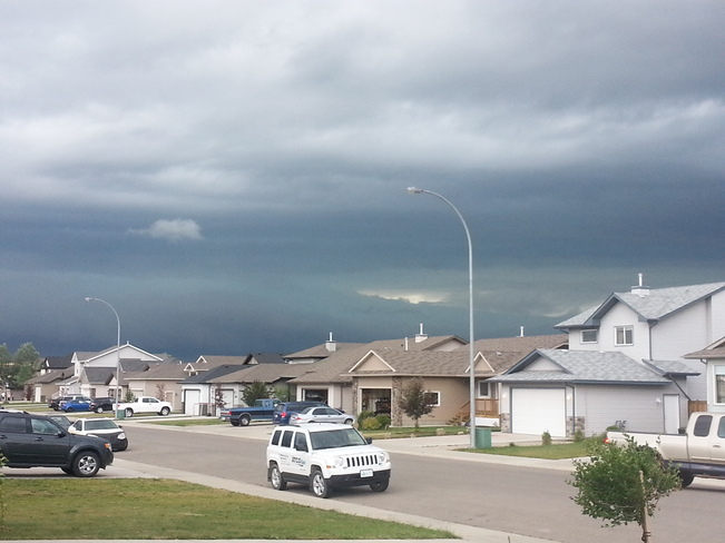Thunderstorm watch Strathmore, Alberta Canada
