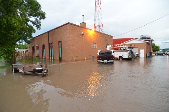 Flood Shaunavon, Saskatchewan Canada