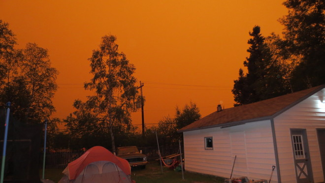 Strange Orange Skies Happy Valley-Goose Bay, Newfoundland and Labrador Canada