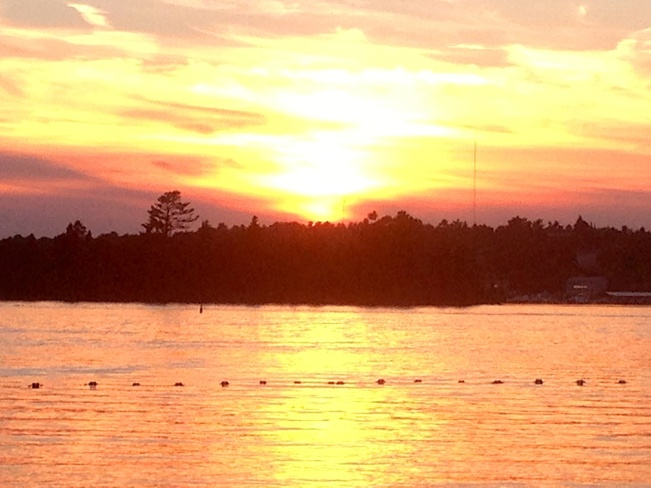 Sunset from Coney Kenora, Ontario Canada