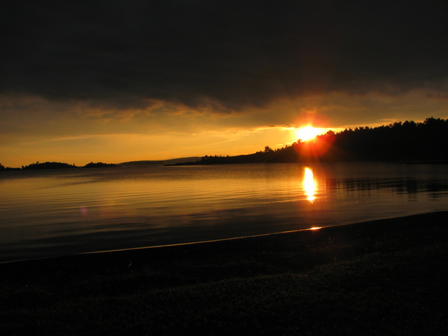 Sunset Over Lake Superior Thessalon, Ontario Canada