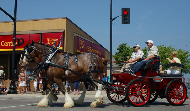 Everyone loves a parade! Kincardine, Ontario Canada