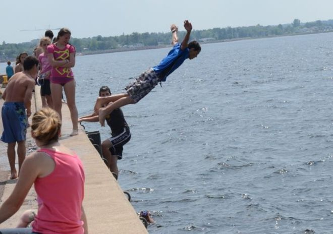'Cooling Off At Pointe Du Chene Wharf'