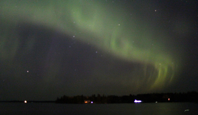 Aurora Borealis - Northern Lights Over Ontario Kapuskasing, Ontario Canada