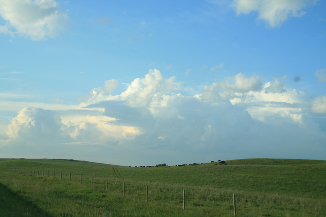 clouds Rolling in Reward, Saskatchewan Canada