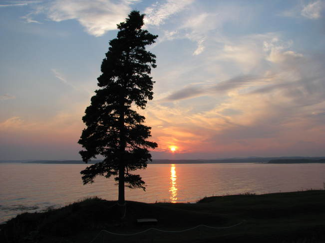 awesome sunset Maces Bay, New Brunswick Canada
