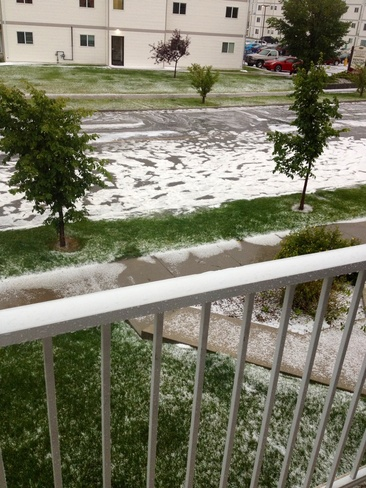 Hail storm West Highlands, Alberta Canada