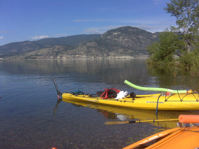 Kayaking at 3 mile Penticton, British Columbia Canada