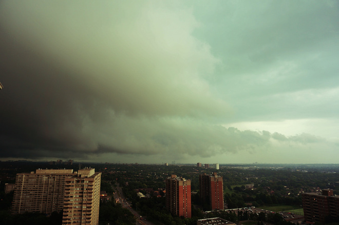 Storm coming Mississauga, Ontario Canada