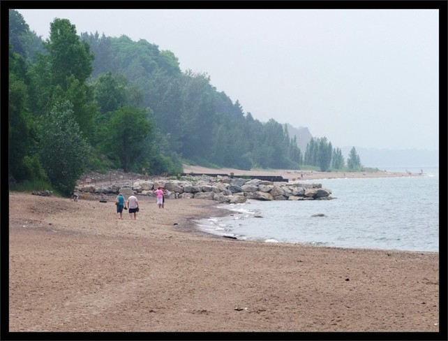 Overcast morning on Ontario's west coast Bayfield, Ontario Canada