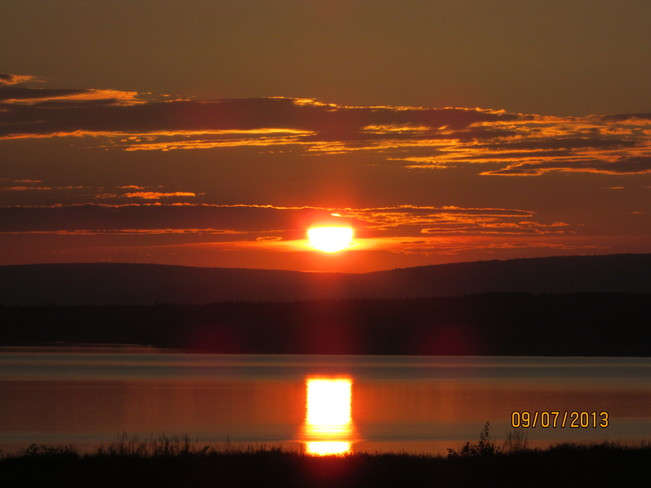 sunset Joggins, Nova Scotia Canada