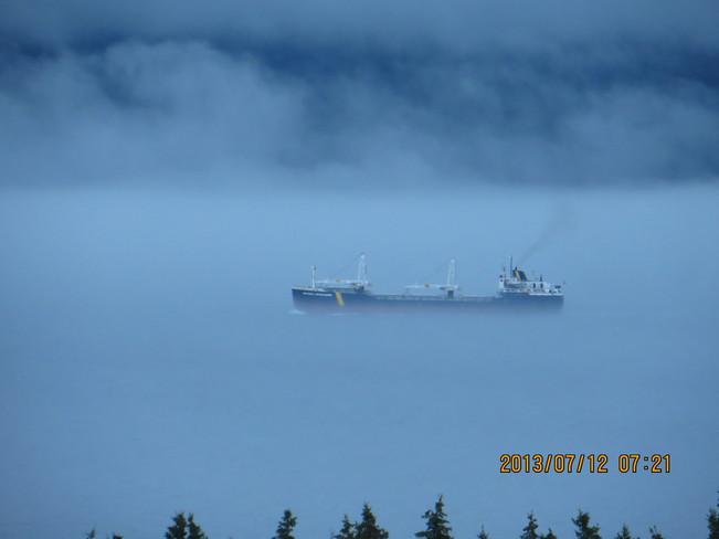 Fog on the water Bell Island, Newfoundland and Labrador Canada