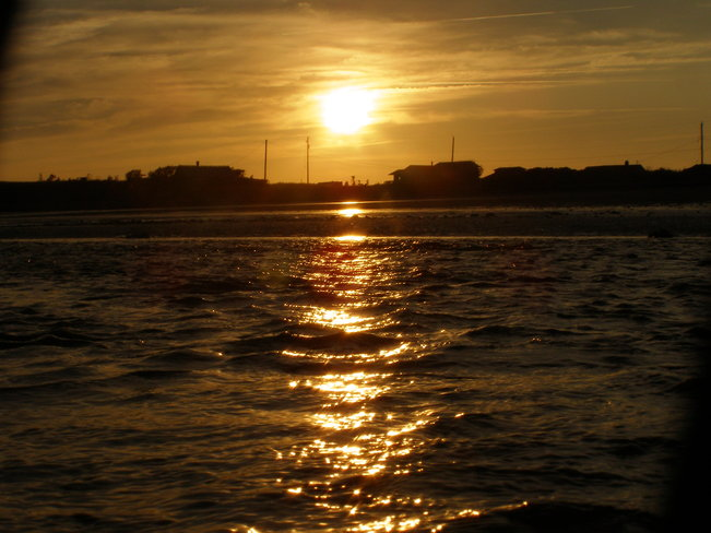 Sunset at low tide with river! Yarmouth, Nova Scotia Canada
