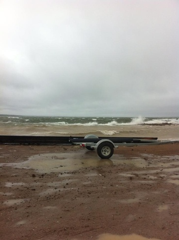 Bad weather on lake athabasca Fond du Lac I.R. 227, Saskatchewan Canada