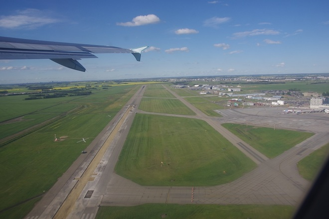 taking off from Edmonton International Airport Edmonton, Alberta Canada