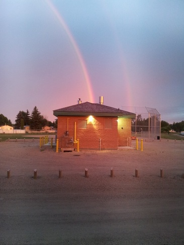 Early Morning Double Rainbow Saskatoon, Saskatchewan Canada