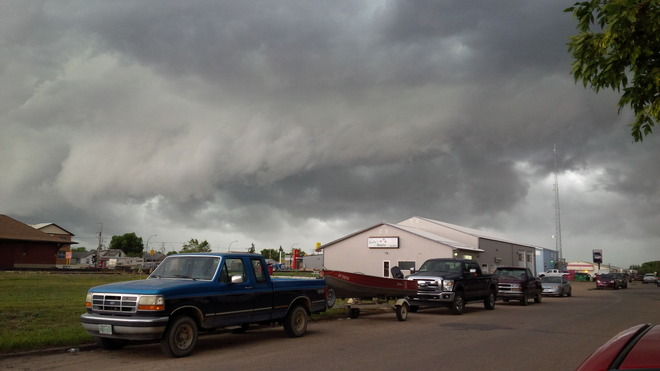 Severe weather Estevan, Saskatchewan Canada