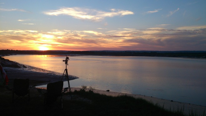 Camera View of Wolfville Sunset Wolfville, Nova Scotia Canada