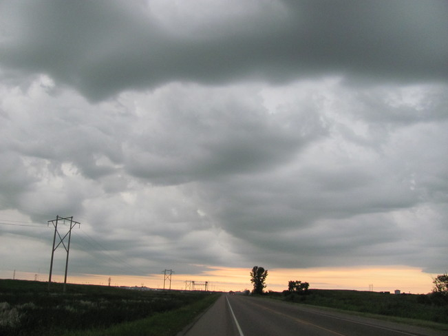 Storm Over the Road Brandon, Manitoba Canada