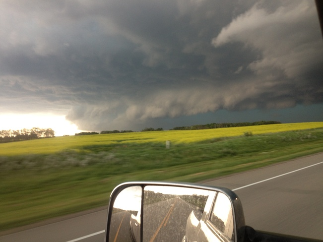 hail and tornado maybe Manor, Saskatchewan Canada