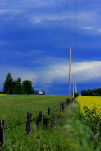 storm on the horizon Warburg, Alberta Canada