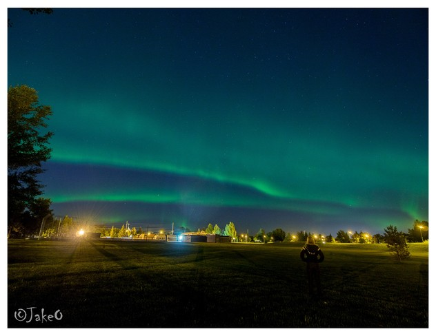Northern Lights in the park Saskatoon, Saskatchewan Canada