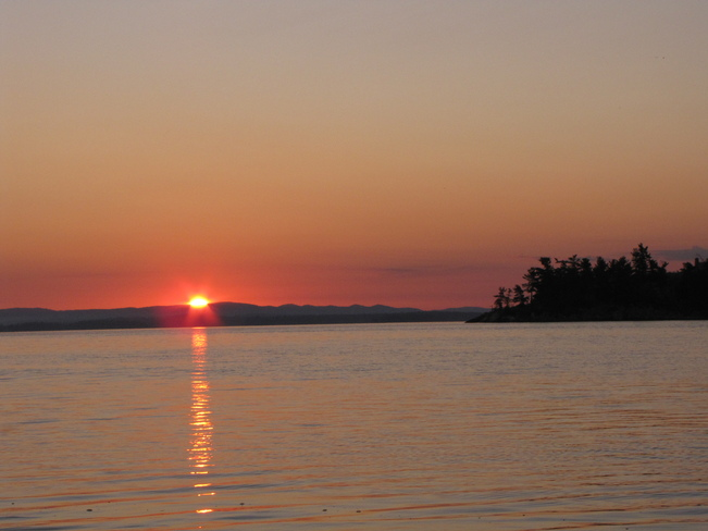 Sunrise at McGregor Bay, Birch Island West Bay, Ontario Canada
