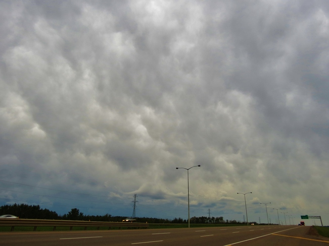 clouds arrived at Edmonton Edmonton, Alberta Canada