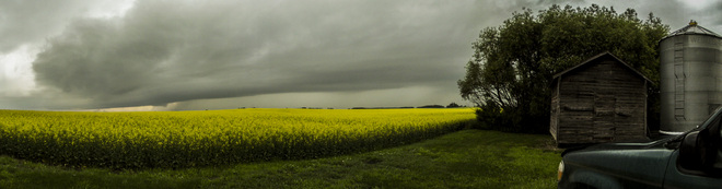 Wall cloud Canora, Saskatchewan Canada