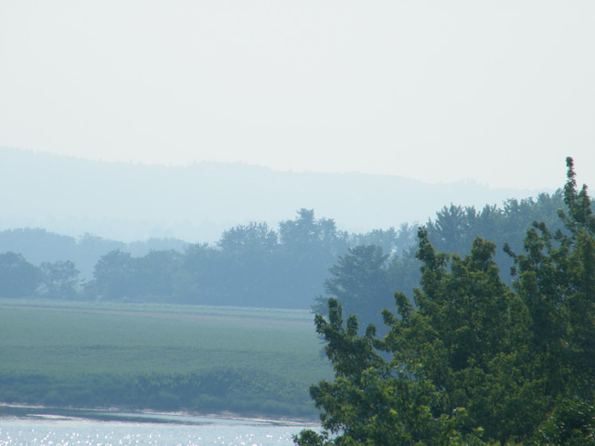 smoke from forest fires in quebec Fredericton, New Brunswick Canada