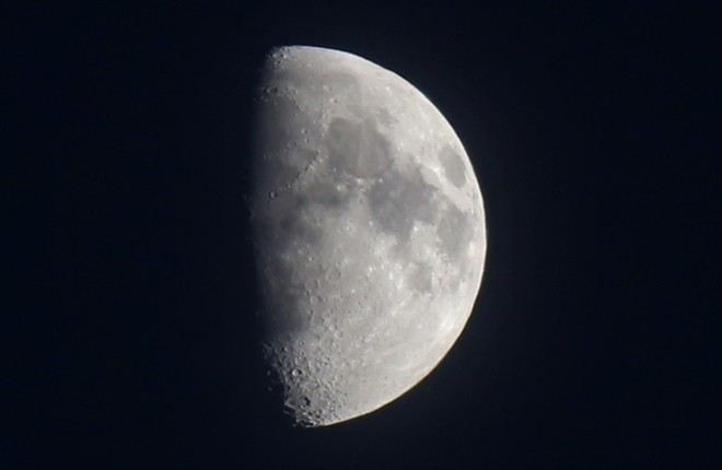 Waxing Gibbous Moon - 62% of full. Prince George, British Columbia Canada