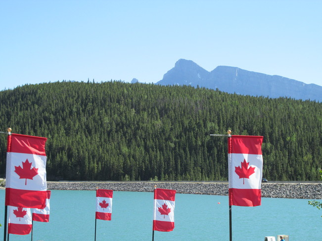 Lake Flags Banff, Alberta Canada