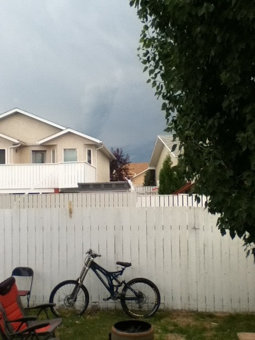 Storm rolling in Mountain Heights, Alberta Canada
