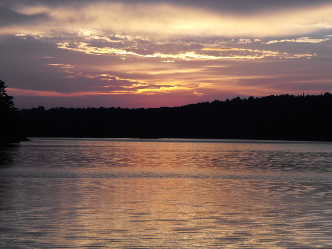 Depot Lake Sunset Elliot Lake, Ontario Canada