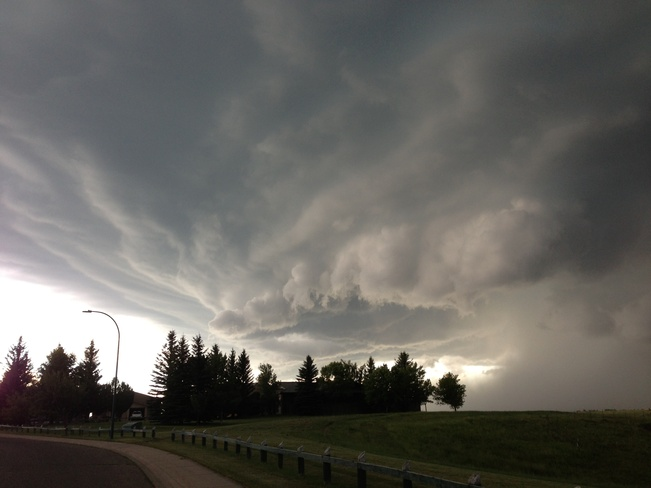 swirling cloud Lethbridge, Alberta Canada