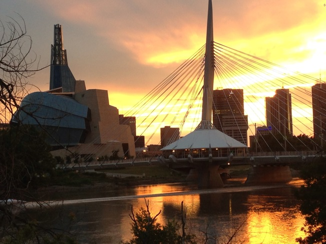 Beautiful evening Winnipeg, Manitoba Canada
