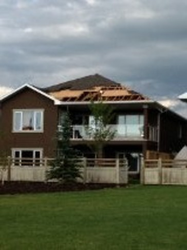 House in Coulee Creek damaged Lethbridge, Alberta Canada