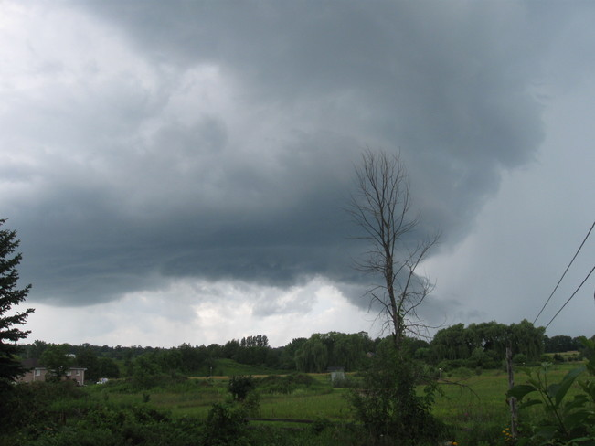 Low dark clouds Alliston, Ontario Canada