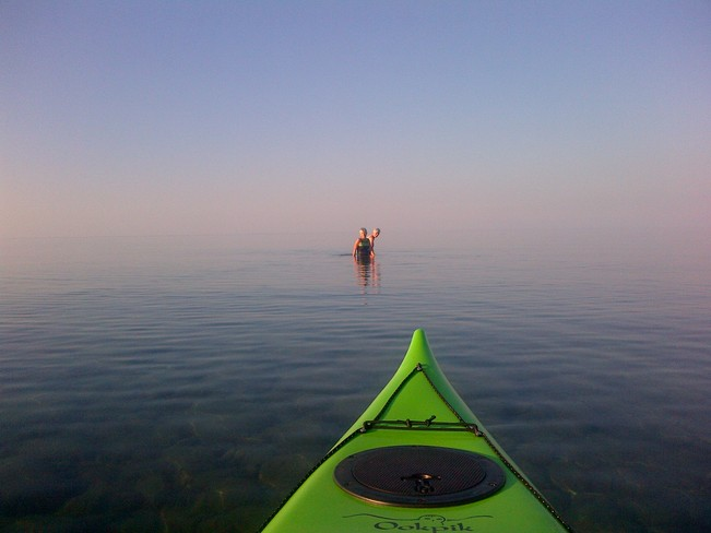 kayaking on Georgian Bay Thornbury, Ontario Canada