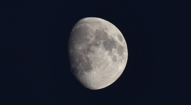 Waxing Gibbous Moon - 82% full Prince George, British Columbia Canada