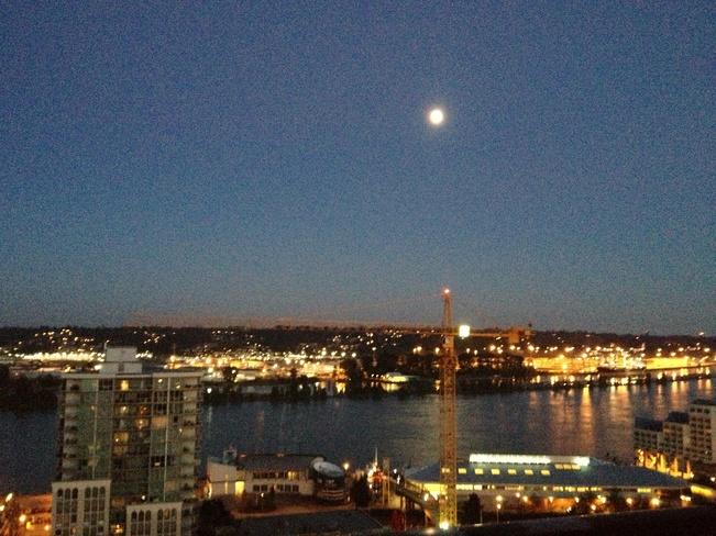 looking at the moon New Westminster, British Columbia Canada