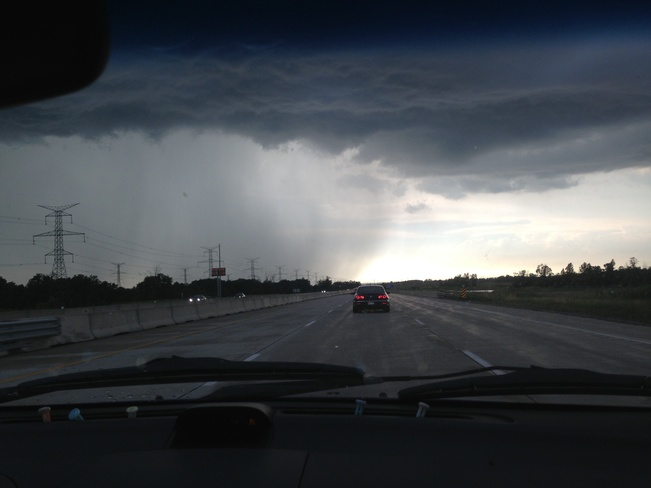 thunder storm moving in Oakville, Ontario Canada