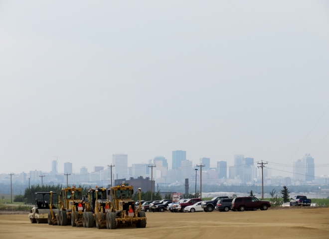 Hazy looking at Edmonton Edmonton, Alberta Canada