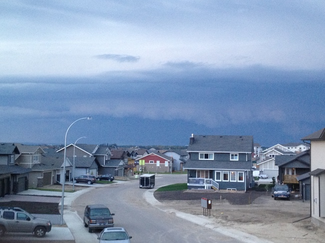 MASSIVE STORM CELL Red Deer, Alberta Canada