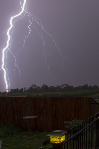 Multiple Bolt Lightning Stoney Creek, Ontario Canada