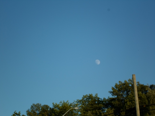 Day time Full Moon Elliot Lake, Ontario Canada