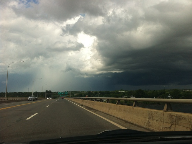 thunderstorm on its way Fredericton, New Brunswick Canada